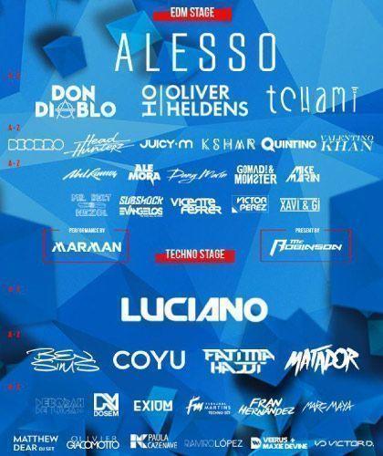 Cartel completo Marenostrum Music Festival 2016