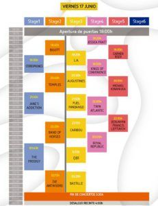 Horarios Mad Cool Festival 2016