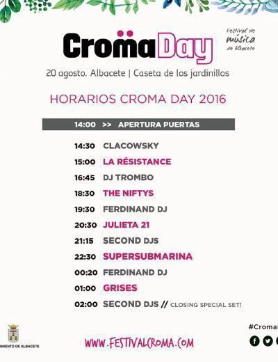 horarios-cromaday