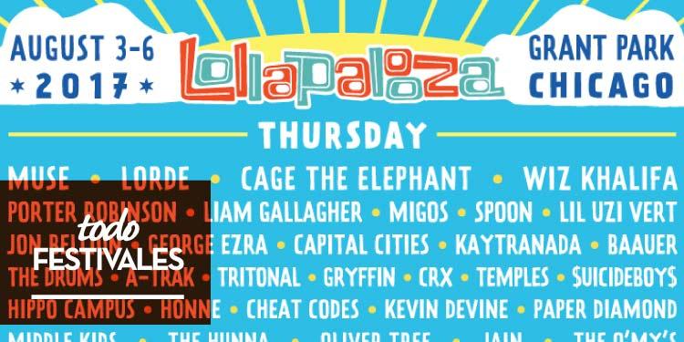 Lollapalooza 2017 presenta su cartel