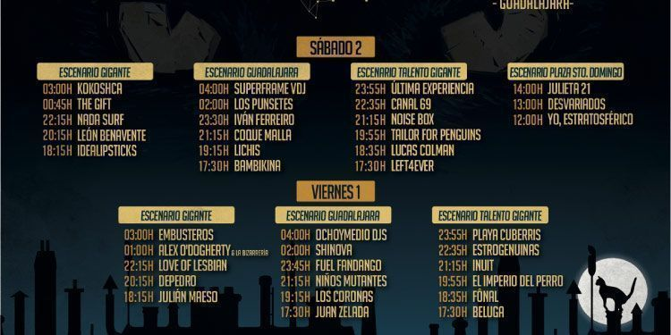 Horarios Festival Gigante 2017